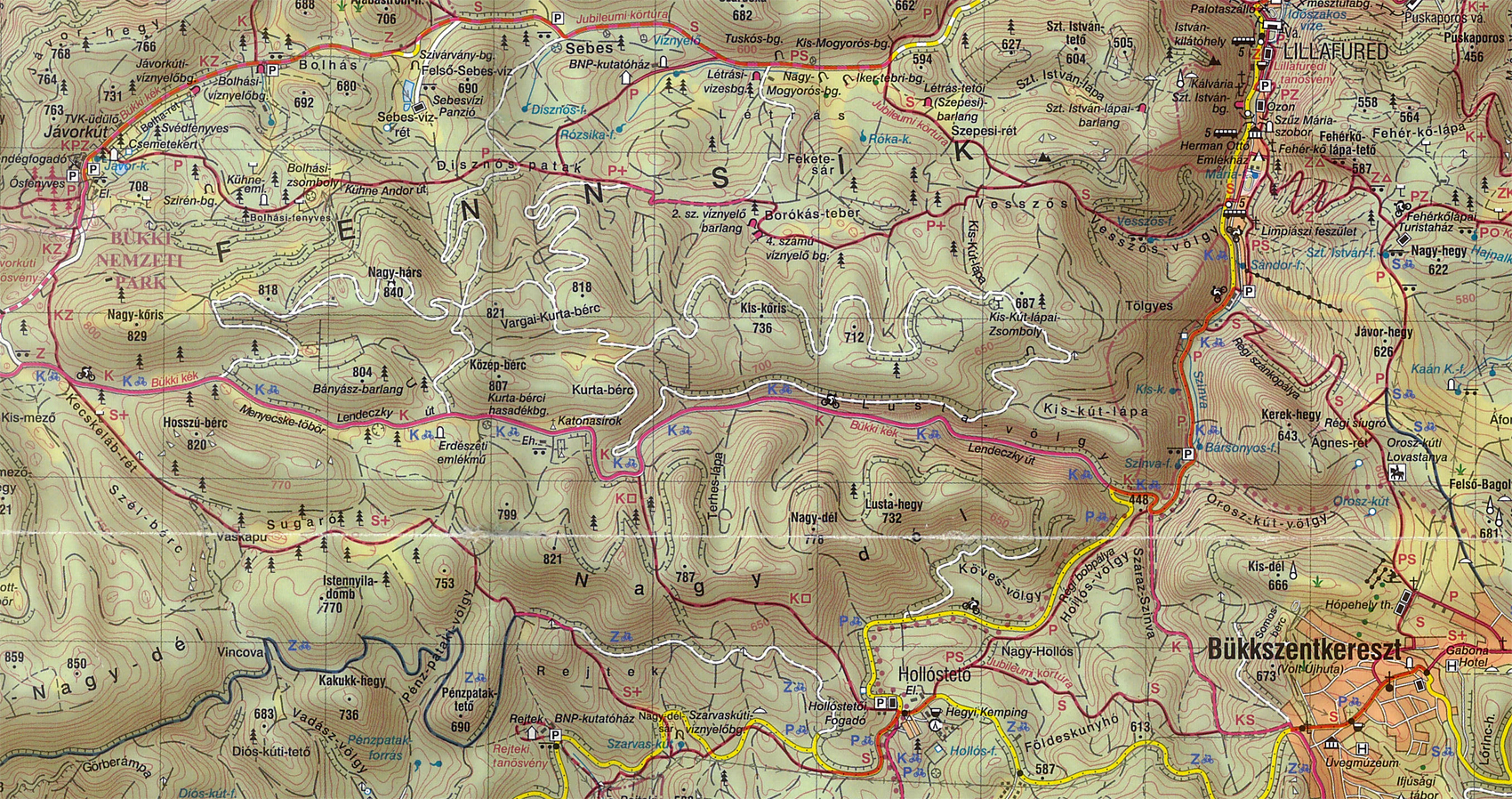 bükk térkép Térképek aktív túrázóknak | Kormos Vendégház és Apartmanok bükk térkép